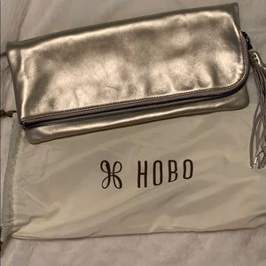 Hobo Silver fold over clutch
